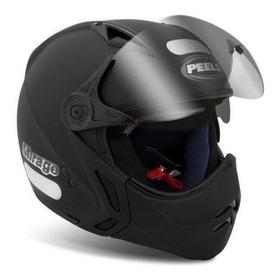 Capacete Para Moto Multi-modular Peels Mirage New Classic Preto-fosco Tamanho 58