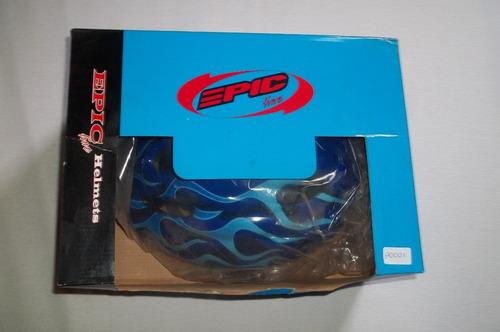 capacete p/ciclismo infantil epic-line c/regulagem- azul