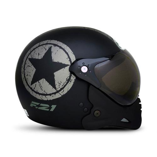 capacete peels f-21 us navy preto grafite original 60