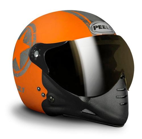 capacete peels f21 navy preto/fosco c/ 2 viseiras juntas