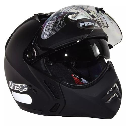 capacete peels mirage c/ oculos solar interno italiano fosco