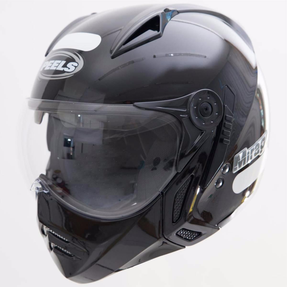 31a67549872ce capacete peels mirage classic preto com óculos interno fumê. Carregando  zoom.