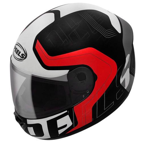 capacete peels spike ghost preto/vermelho