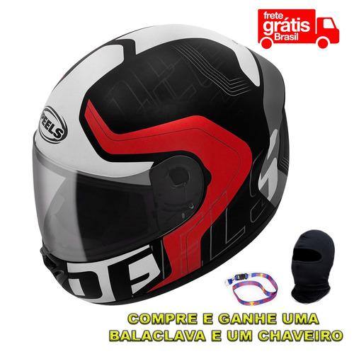 capacete peels spike ghost tam 56 ao 62 +touca ninja + chave