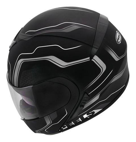 capacete peels urban ultron 60 escamoteavel preto/cinza