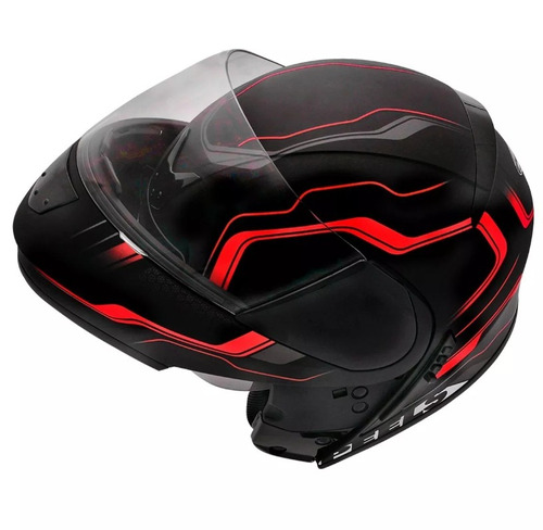 capacete peels urban ultron preto vermelho c óculos robocop