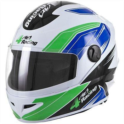 capacete pro tork 4 racing verde e azul