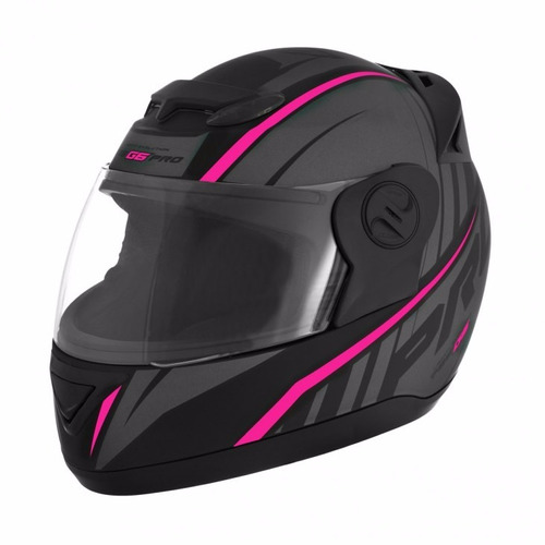 capacete pro tork evolution g6 rosa feminino 6g + balaclava