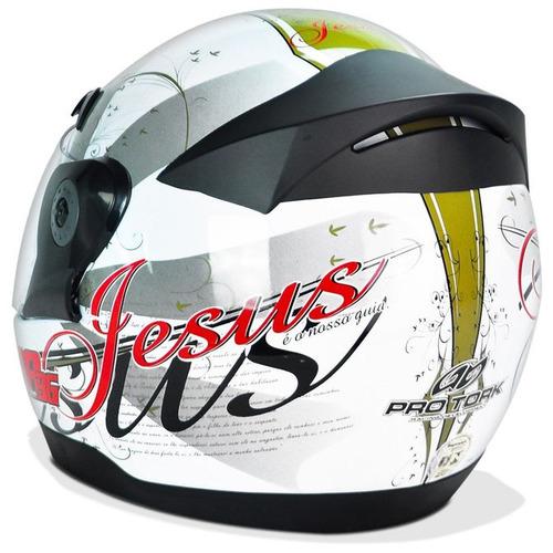 capacete pro tork evolution gospel + brinde