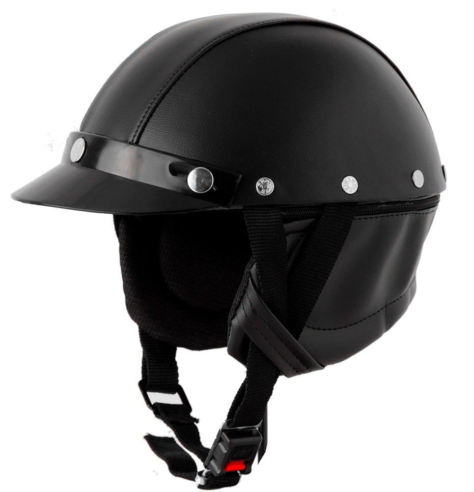 Capacete Pro Tork Coquinho Moto Custom Couro + Brinde - R  44 b1325c24517