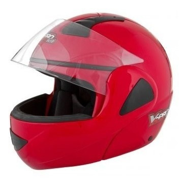 capacete pro tork v pro jet articulado robocop vermelho 60