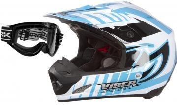 capacete pro tork viber + oculos 788