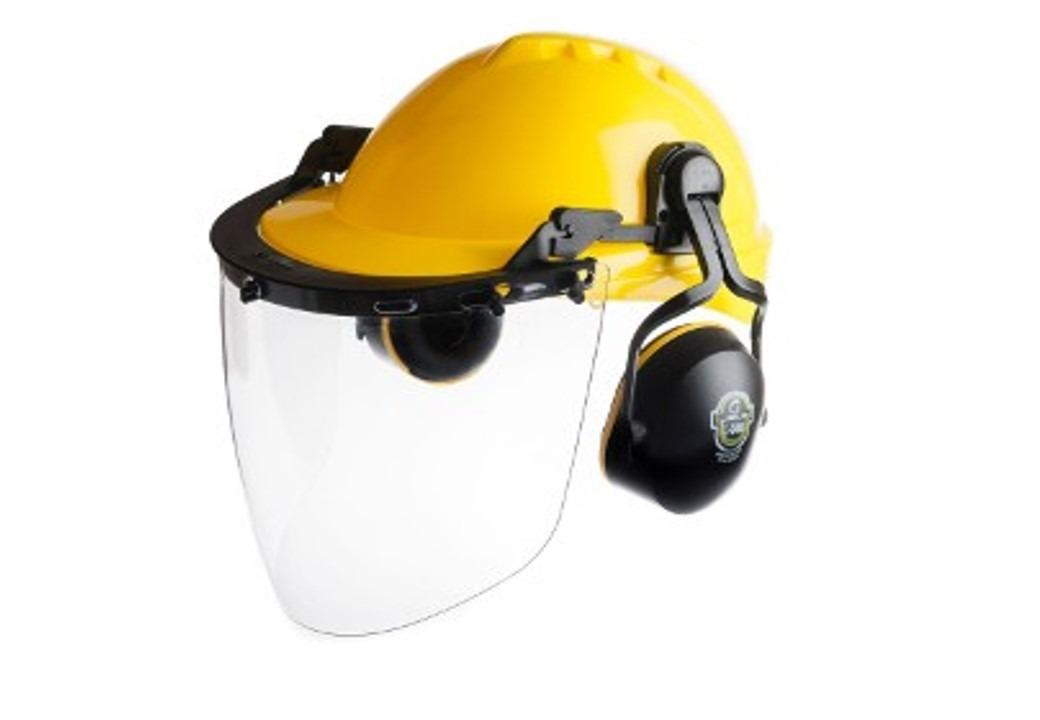 552f852ee36ce capacete protetor facial abafador de ruidos epi conjunto. Carregando zoom.