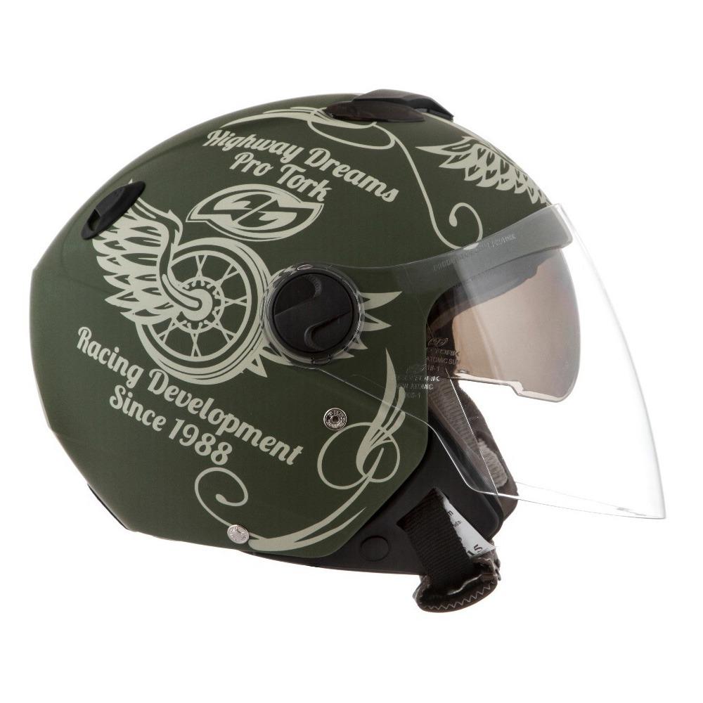 capacete protork atomic highway dreams fosco viseira dupla. Carregando zoom. a8e9a846e6c