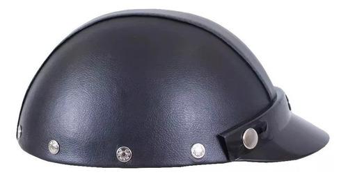 capacete protork coquinho moto custom couro boulevard harley