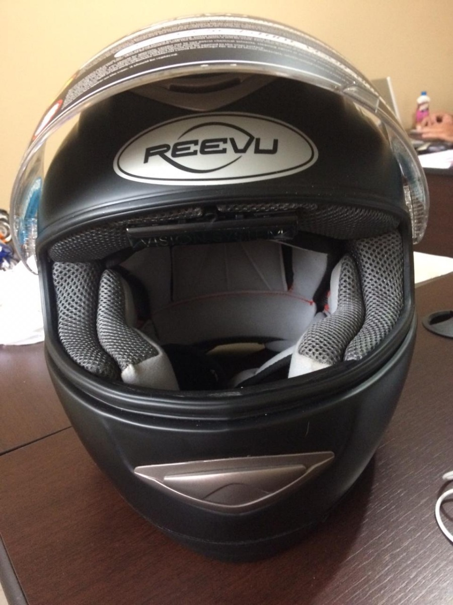 capacete reevu com retrovisor preto brilhante (mostruário). Carregando zoom. 13f55f96596