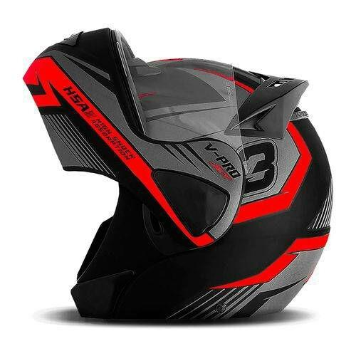 capacete robocop escamoteável pro tork v-pro jet 3