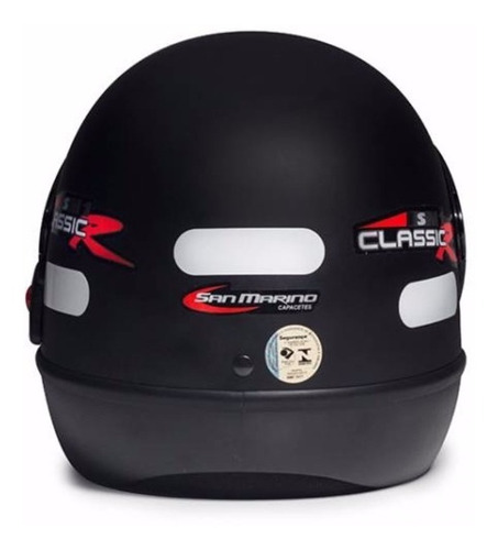 capacete san marino classic preto fosco fechado