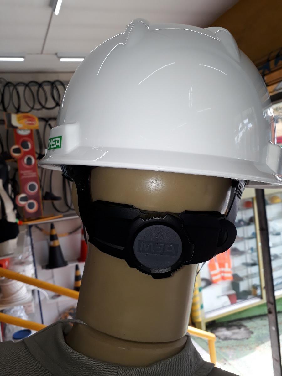 3bba5fc909282 capacete segurança boné v-gard msa catraca e jugular branco. Carregando  zoom.
