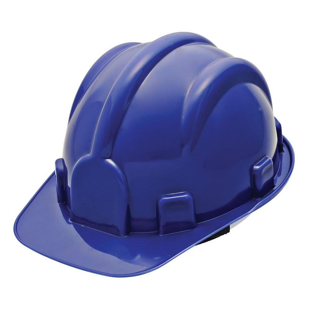 Capacete De Segurança Azul Escuro Com Carneira - Pro Safety - R  18 ... 846915d009
