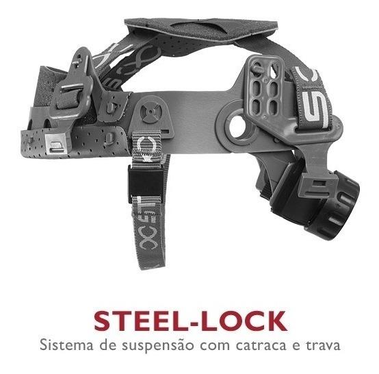 2548623bec Capacete Segurança Turtle + Carneira Varias Cores Steelflex - R$ 43 ...