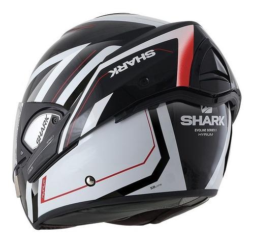 capacete shark evoline  serie 3 hyrium kwr