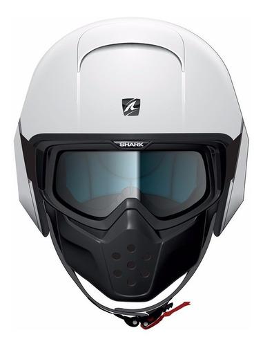 capacete shark raw blank branco
