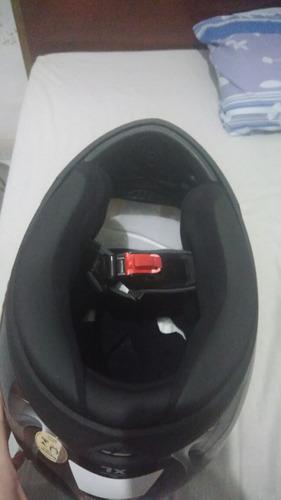 capacete shark s700 glow preto/prata