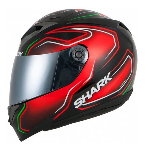 capacete shark s700 guintolli krg vermelho preto