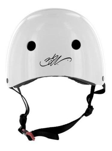 capacete skate atrio bob burniquist coquinho branco m es084