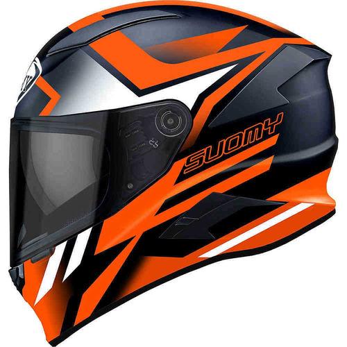 capacete suomy speedstar asymmetric laranja fluor