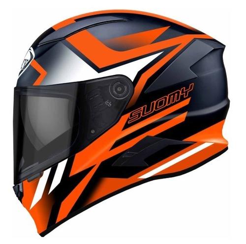 capacete suomy speedstar asymmetric laranja fluor lançamento
