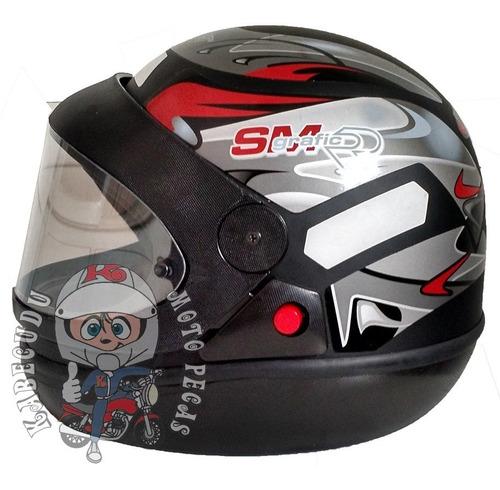 capacete taurus san marino preto fosco grafic