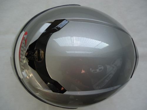 capacete taurus solid vintage prata. tamanho 61