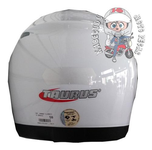 capacete taurus zarref - branco