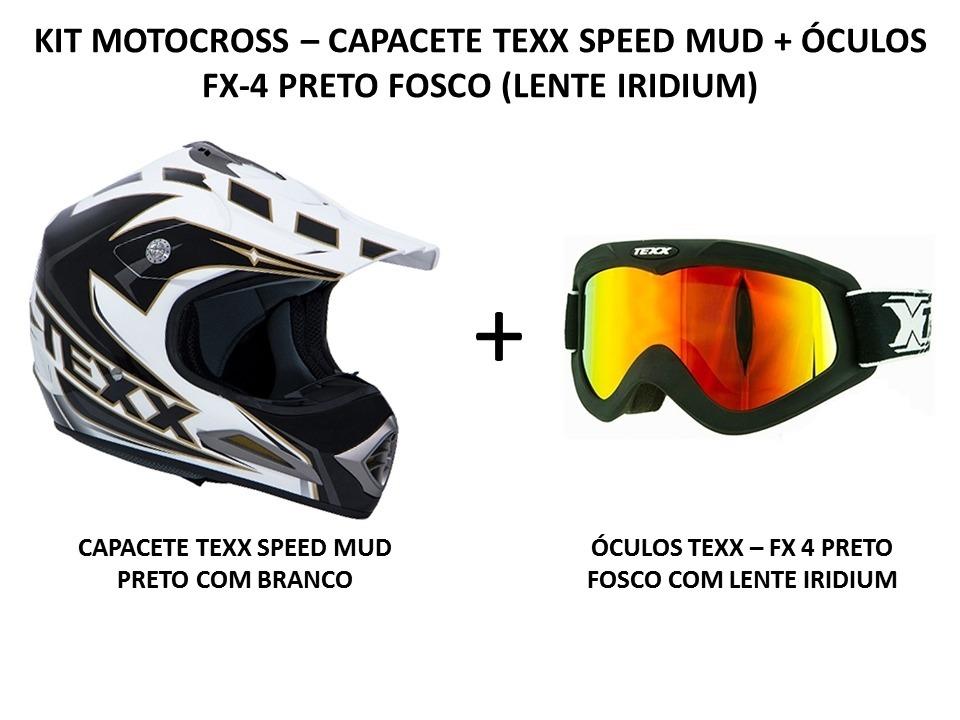 598c16fa6b82f capacete texx speed mud trilha cross + óculos texx fx-4. Carregando zoom.