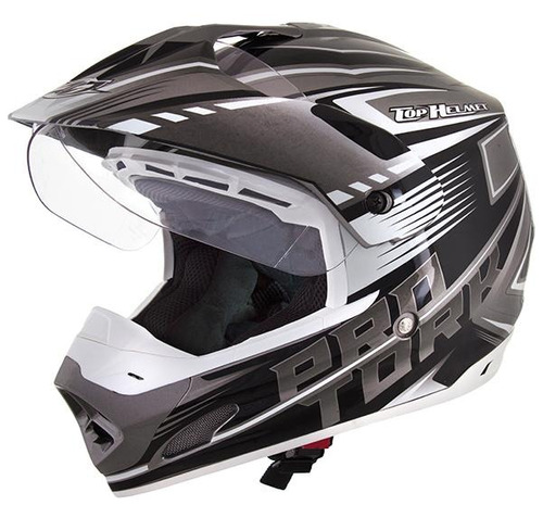 capacete  th 1 vision prata/branco nº 58