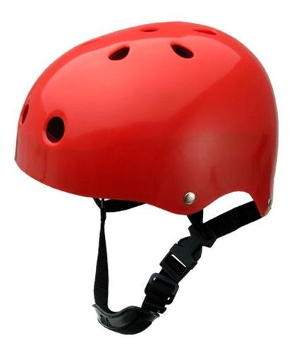 capacete traxart infantil sse 178 patins skate vermelho