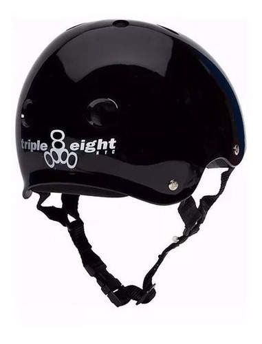 capacete triple eight black gloss original, skate bike promo