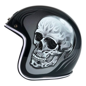 Capacete Urban Helmets Tucci Caveira Preto