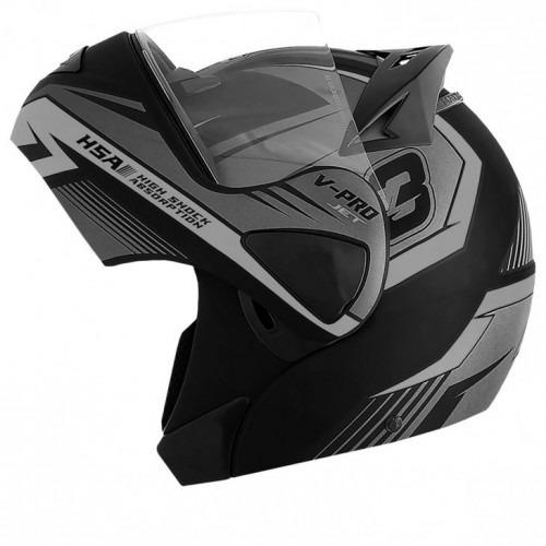 capacete v pro jet 3 robocop pro tork varias cores