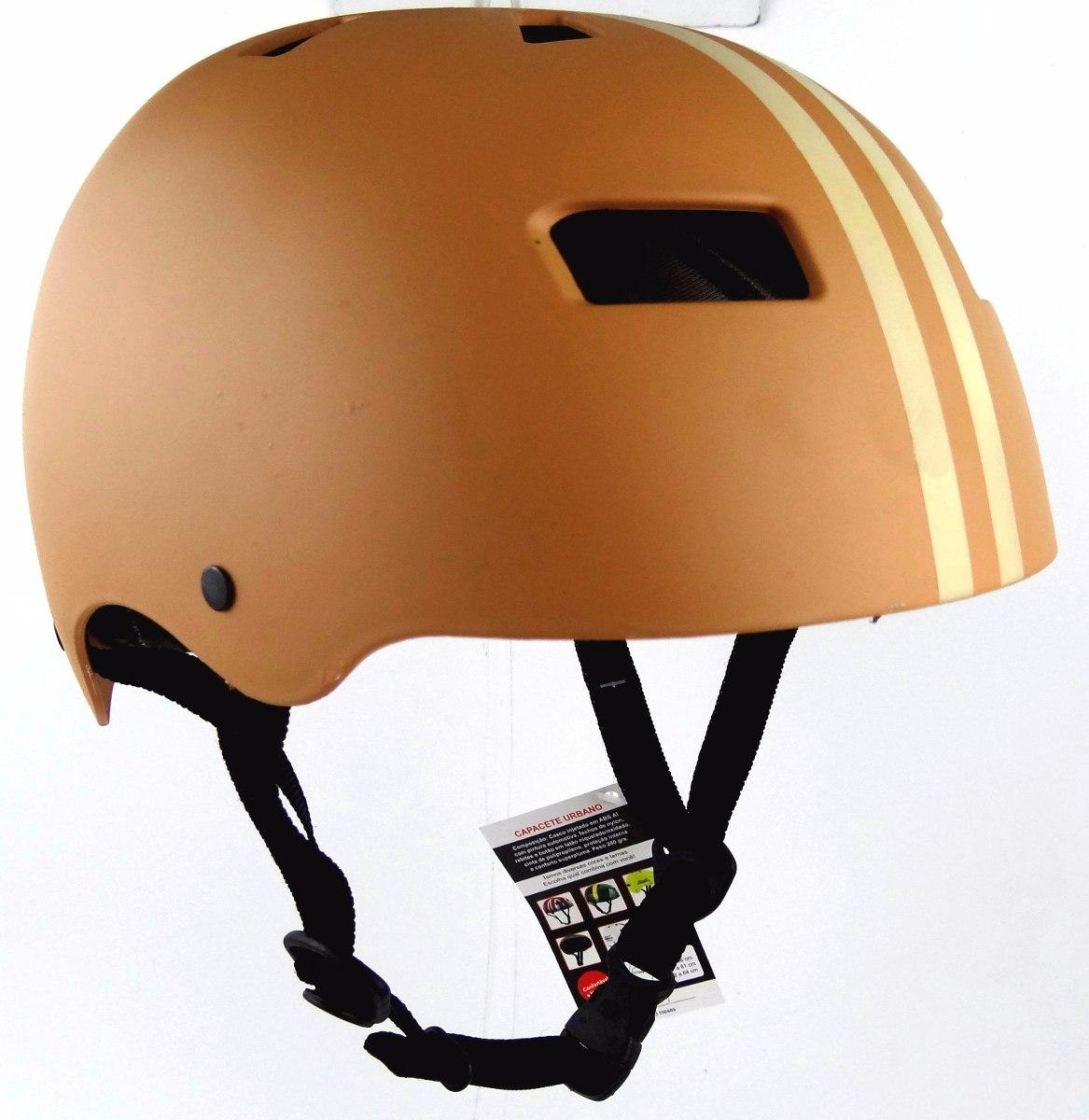 capacete vintage bravo iron skate   bike   patins- marrom. Carregando zoom. 7f2e5f92aa3