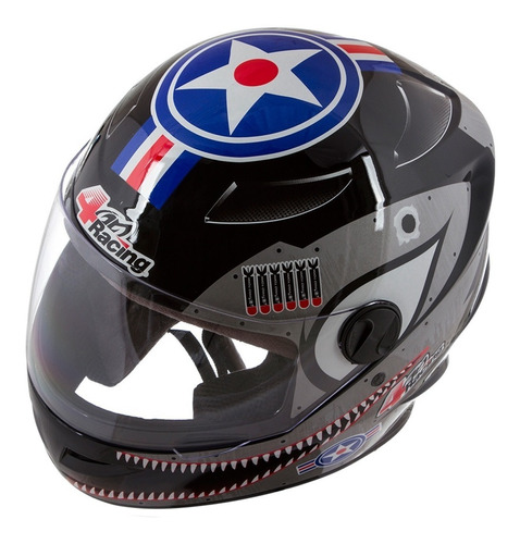 capacete viseira masculino 4 racing bomber pro tork