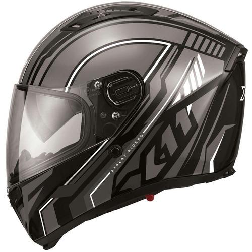 capacete x11 impulse wing preto/cinza com viseira solar
