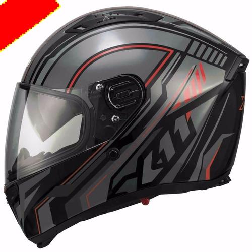 capacete x11 impulse wing vermelho c/viseira solar