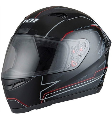 capacete x11 volt preto vermelho fechado 56 58 60 62 64