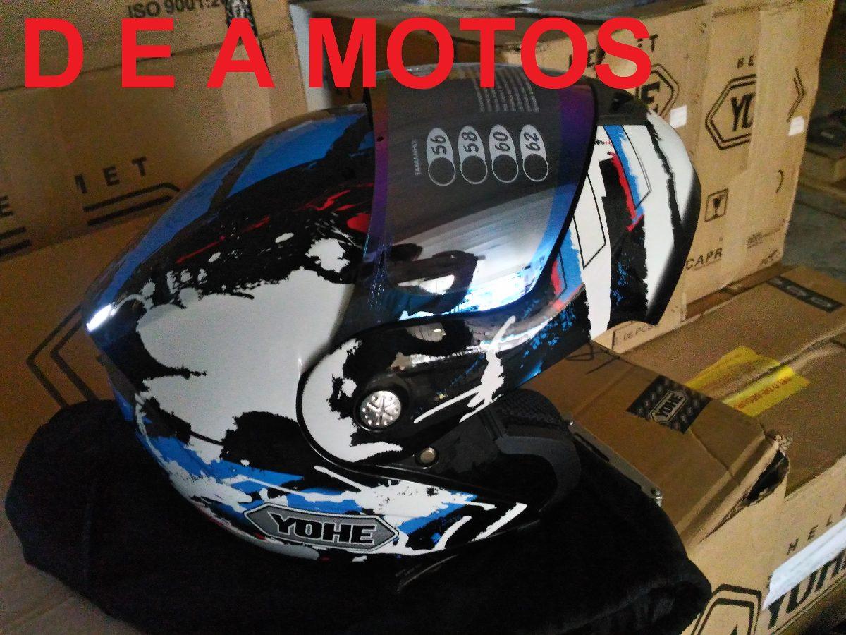 capacete yohe pratik emotion escamoteável azul 60 + vis col. Carregando  zoom. 3d68237c44c