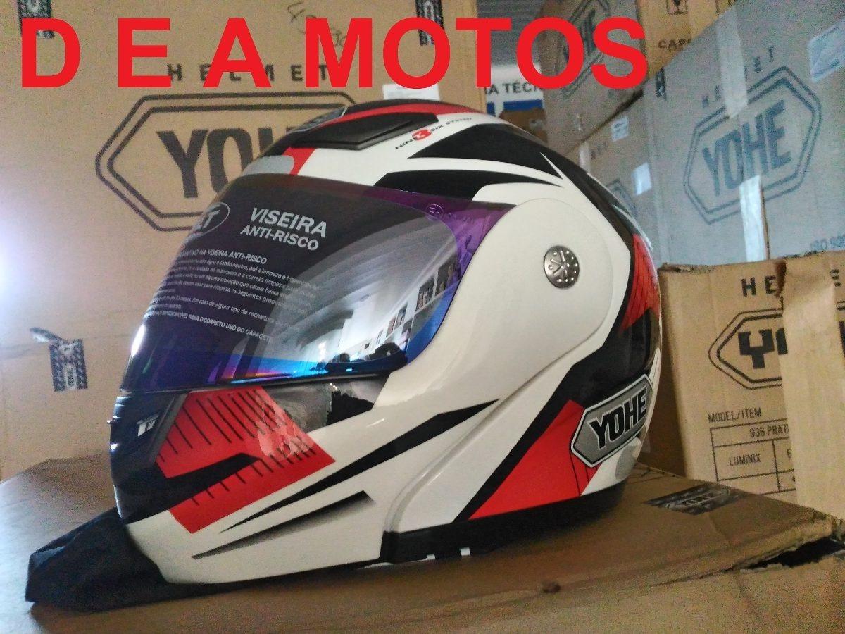 capacete yohe pratik luminix escamoteável vermelho 56 + vis. Carregando  zoom. b645f0b8b62