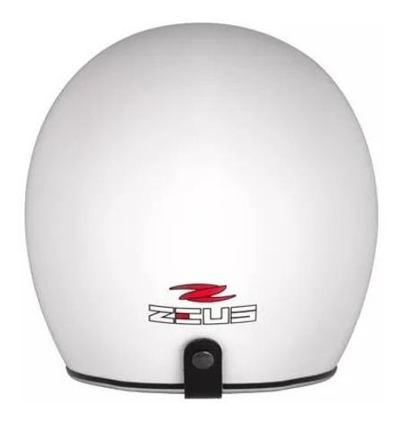 capacete zeus 380fa branco brilho viseira solar aberto