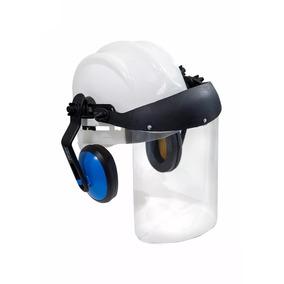 46b5344461566 Capacete Com Protetor Facial E Abafador no Mercado Livre Brasil
